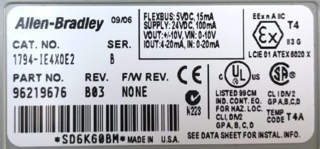 Allen Bradley 1794-IE4XOE2-B03