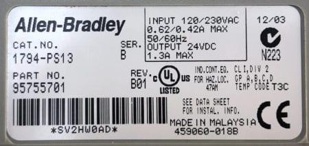 Allen Bradley 1794-PS13