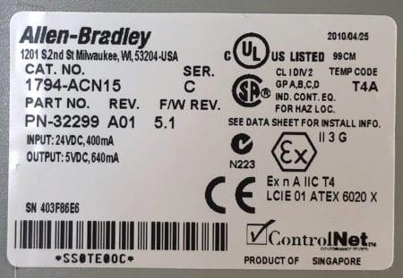 Allen Bradley 1794-ACN15-A01-SerC-5.1
