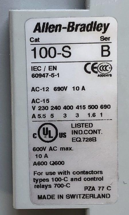 Allen Bradley 100-C72*00