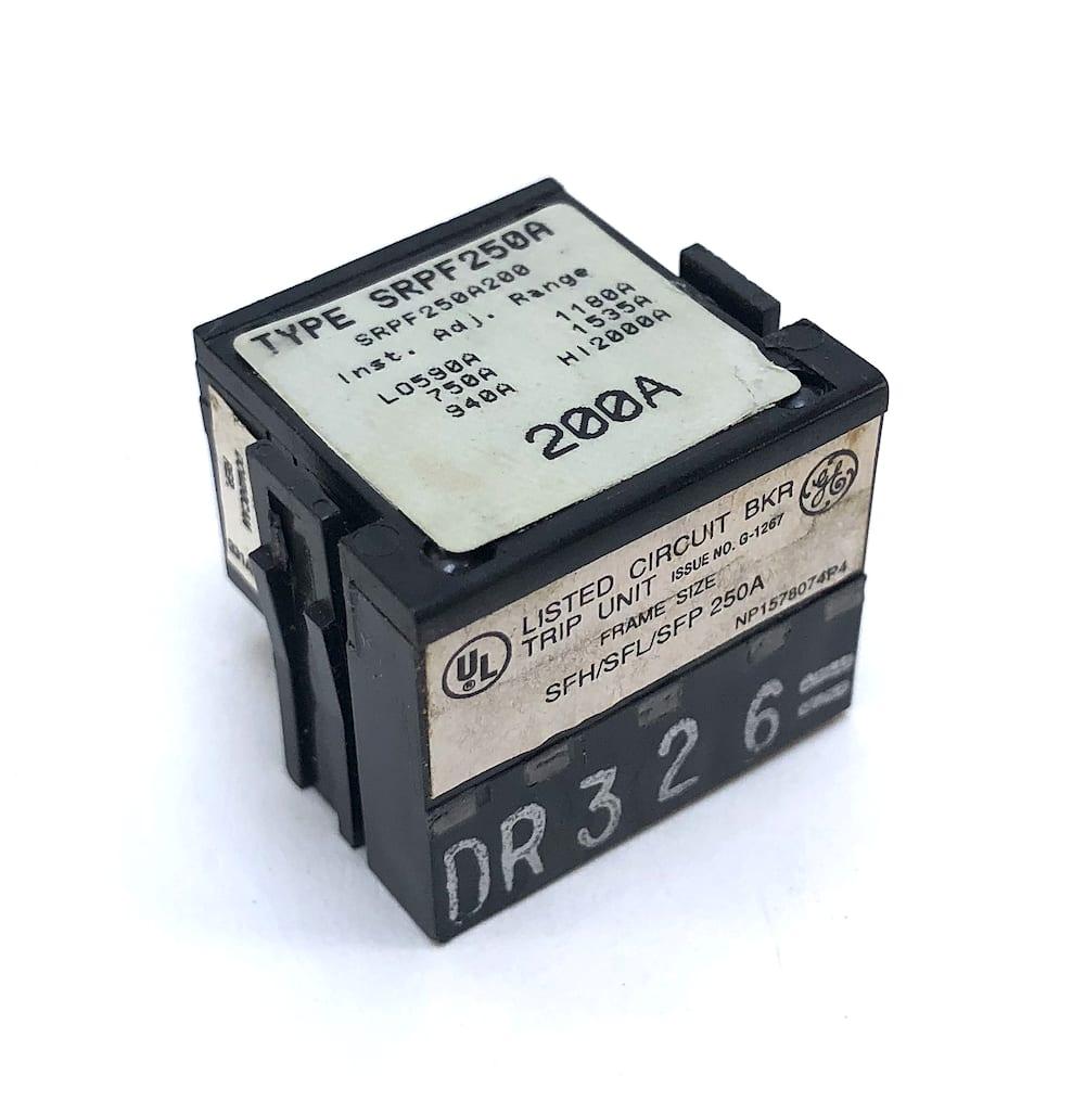 GE SRPF250A200 Circuit Breaker Rating Plug 200 Amp Trip Spectra Series