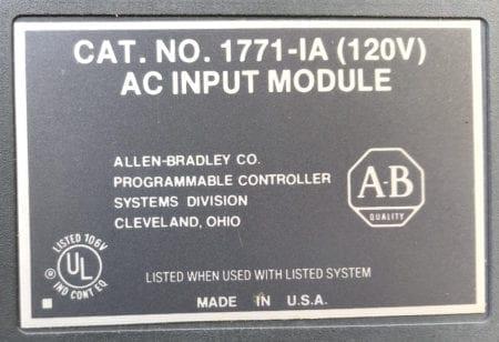 Allen Bradley 1771-IA