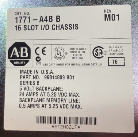 Allen Bradley 1771-A4B
