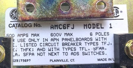General Electric AMC6FJ