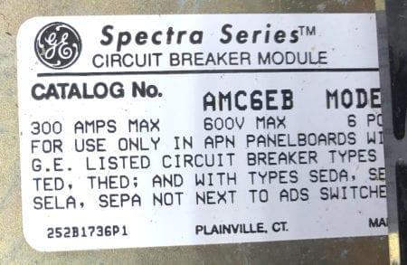 General Electric AMC6EB