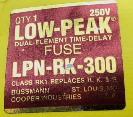 Bussmann LPN-RK-300