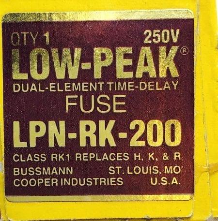 Bussmann LPN-RK-200