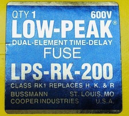 Bussmann LPS-RK-200