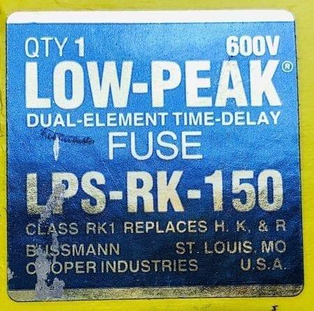 Bussmann LPS-RK-150
