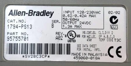 Allen Bradley 1794-PS13-A02