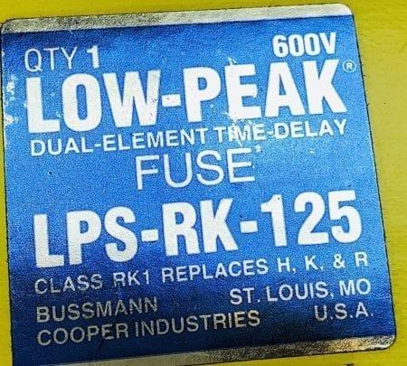Bussmann LPS-RK-125