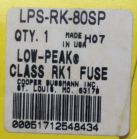 Bussmann LPS-RK-80SP-NIB