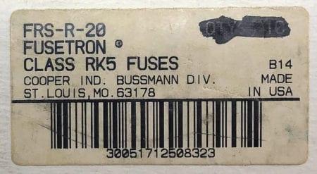 Fusetron FRS-R-20-NIB-7