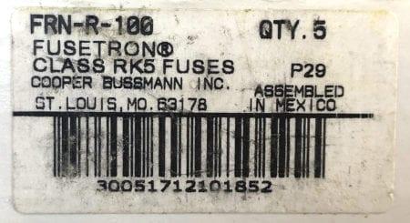 Fusetron FRN-R-100-NIB-5