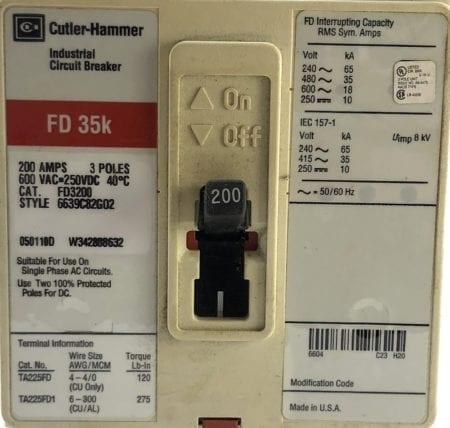 Cutler Hammer FD3200-RL