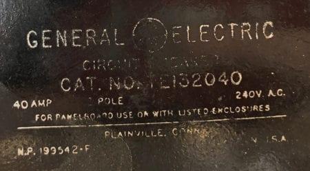 General Electric TE132040-BF