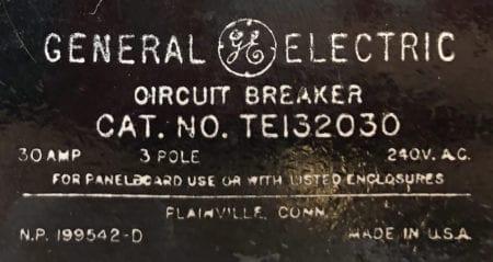 General Electric TE132030-BF