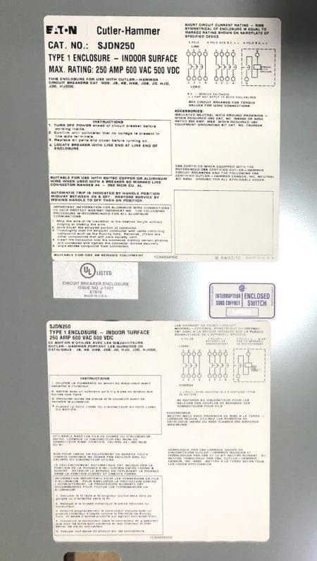 Eaton SJDN250-NIB-CHIP