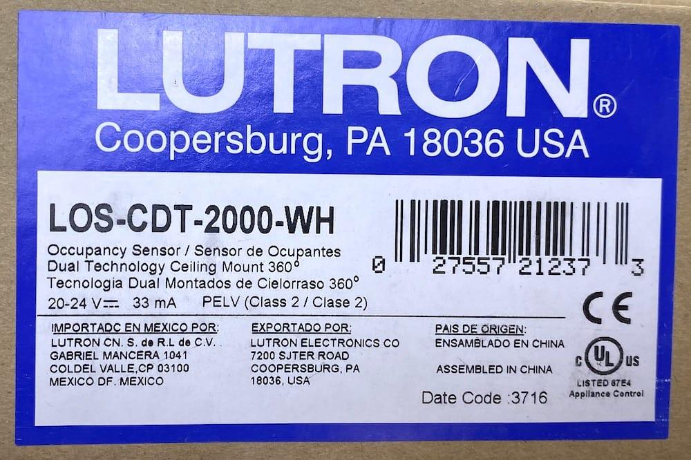Lutron LOS-CDT-2000-WH