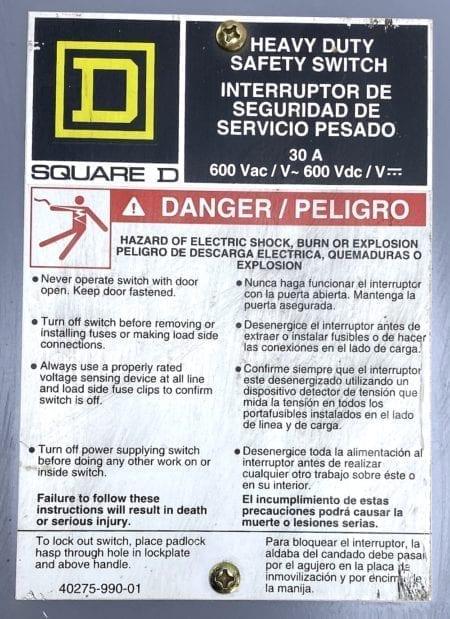 Square D H361