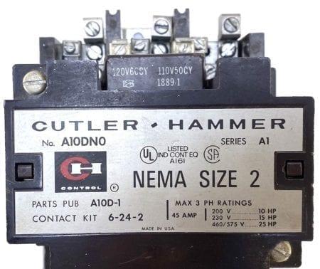 Cutler Hammer A10DN0-120