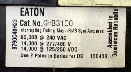 Eaton Cutler Hammer GHB3100
