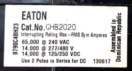 Eaton Cutler Hammer GHB2020