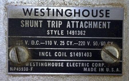 Westinghouse 1491362