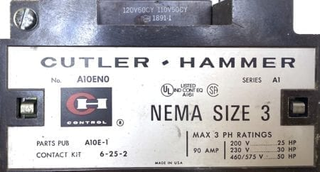 Cutler Hammer A10EN0-120