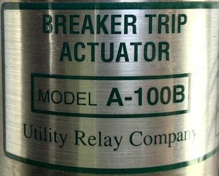 Utility Relay Company A-100B-NEW
