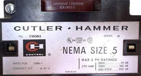 Cutler Hammer C10GN3-120