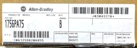 Allen Bradley 1756-PA75-NIB