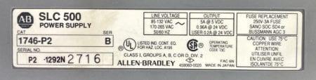 Allen Bradley 1746-P2-B