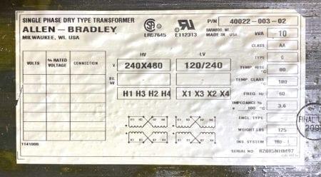 Allen Bradley 40022-003-02