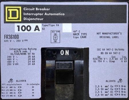 Square D FA36100-NML