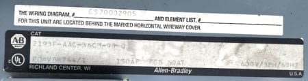 Allen Bradley 2193F-AAC-36CM-98