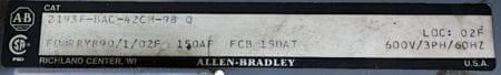 Allen Bradley 2193F-BAC-42CM-98