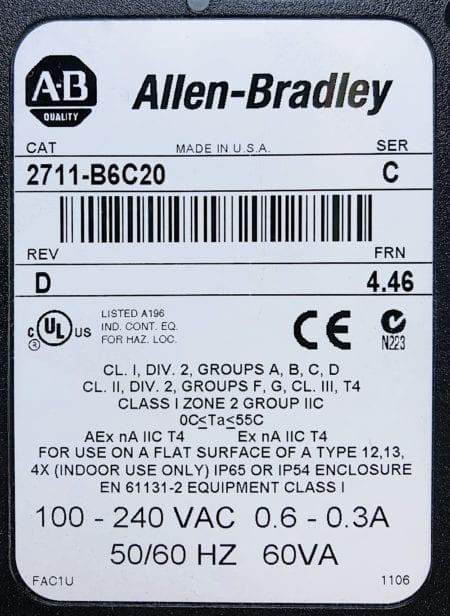 Allen Bradley 2711-B6C20