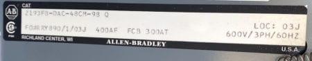 Allen Bradley 2193FB-DAC-48CM-98