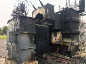 burnt transformer