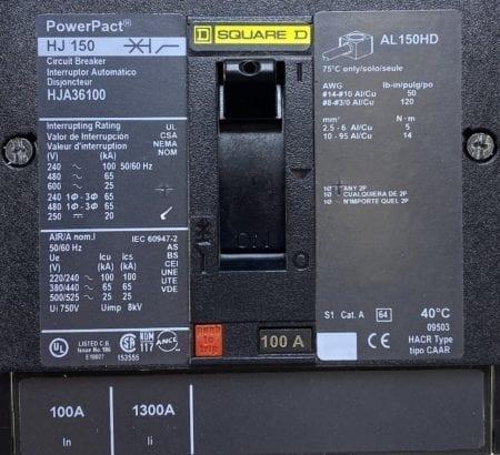 Square D HJA36100-AUX