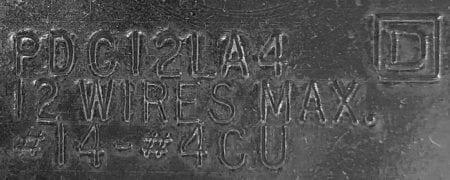Square D PDC12LA4