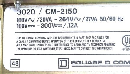 Square D 3020-CM-2150