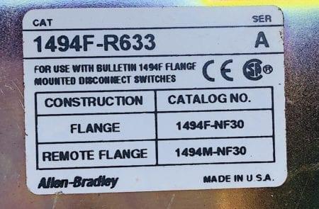 Allen Bradley 1494FR633 -NIB