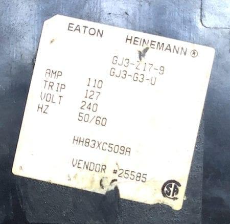 Eaton Heinemann GJ3-3-U