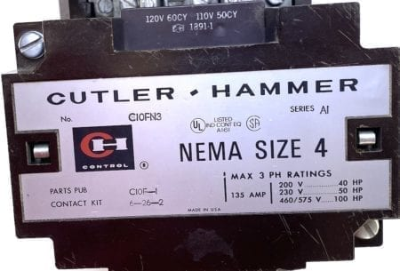 Cutler Hammer C10FN3