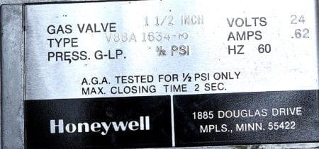 Honeywell V88A1634