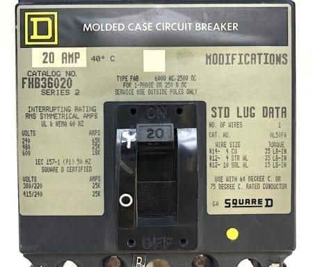 Square D FHB36020-GL