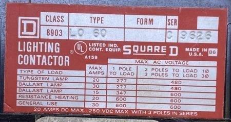 Square D 8903LO60-120