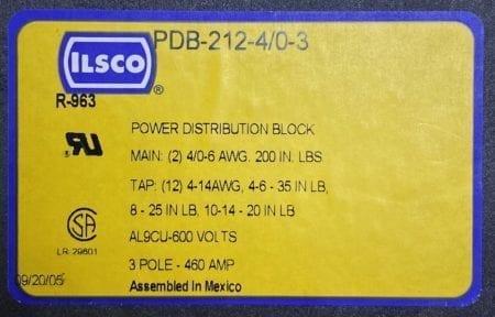 Ilsco PDB-212-4/0-3
